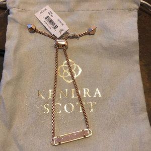 Kendra Scott RG Adj Bracelet Iridescent Drusy